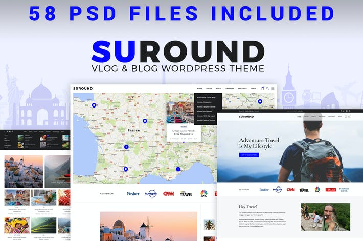 Thumbnail for Suround - Vlog & Blog PSD Template