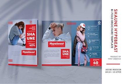 Brochure Bifold Hypebeast Fashion