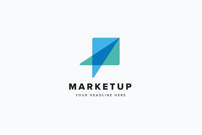 Cover Image For Market Up Logo Template