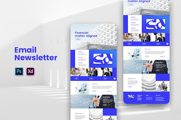 Thumbnail for Business Solution Email Newsletter