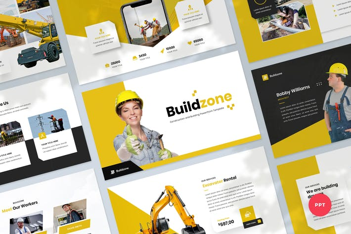 Thumbnail for Строительство и создание Шаблон PowerPoint