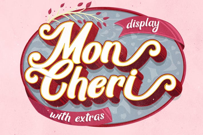 Cover Image For Mon Cheri Typeface + Extras