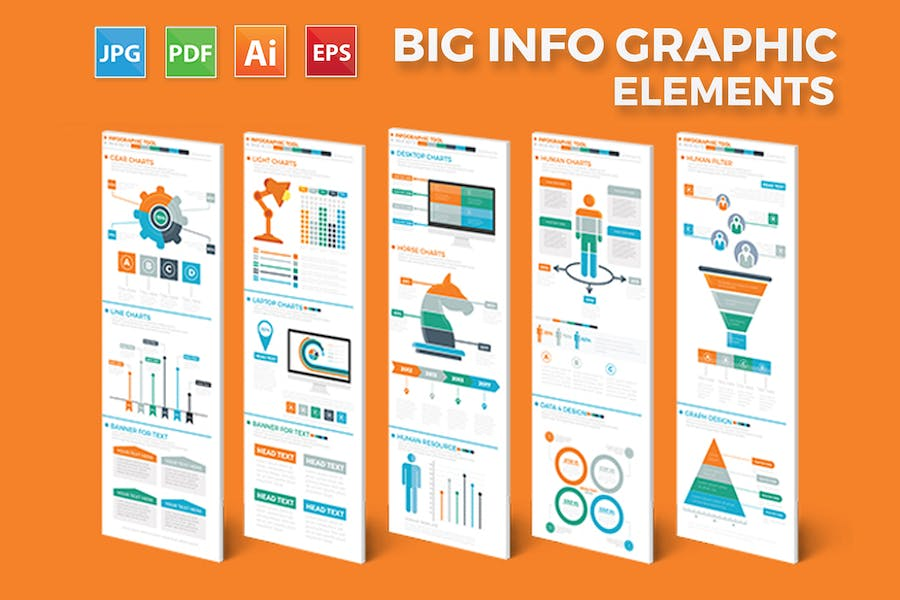 Business Infographics Elements - product preview 0