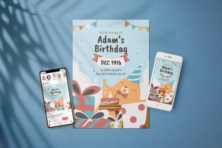 Thumbnail for Birthday Baby Invitation - Flyer Media Kit