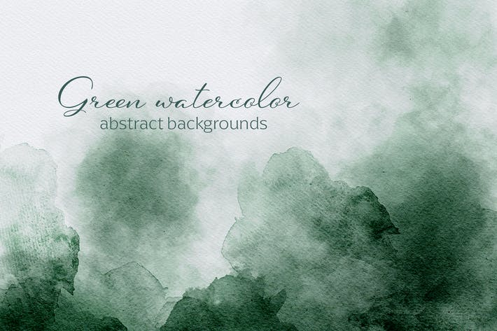Thumbnail for Green Watercolor Abstract Textures