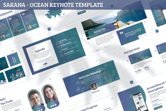 Thumbnail for Sakana - Ocean Keynote Template