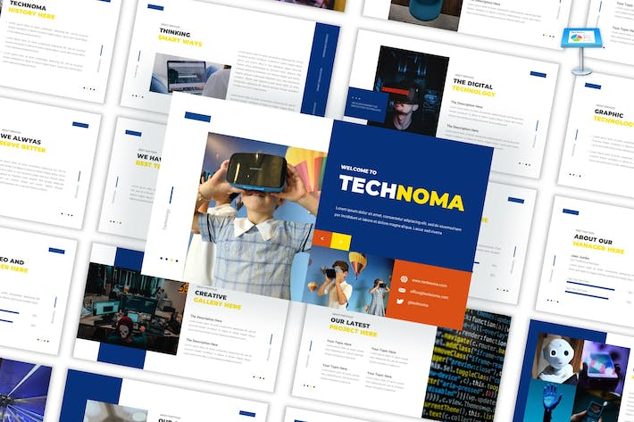 Thumbnail for Technoma - Creative Keynote Template