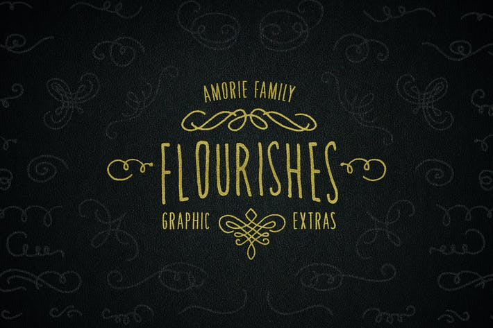 Thumbnail for Graphic Flourishes - Amorie Font Family