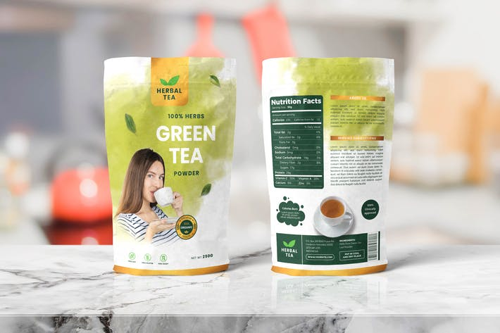 Thumbnail for Food Pouch Packaging Templates
