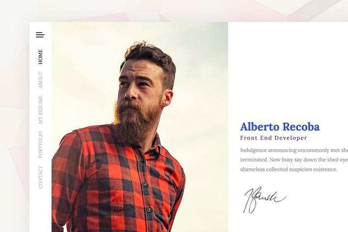 Thumbnail for Recoba - vCard Html5 Template