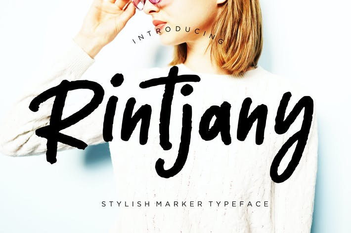 Thumbnail for Rintjany Stylish Marker Typeface