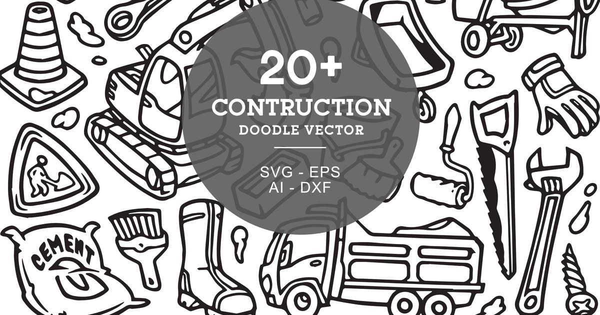 Download Contruction Doodle Art Illustration by yipianesia
