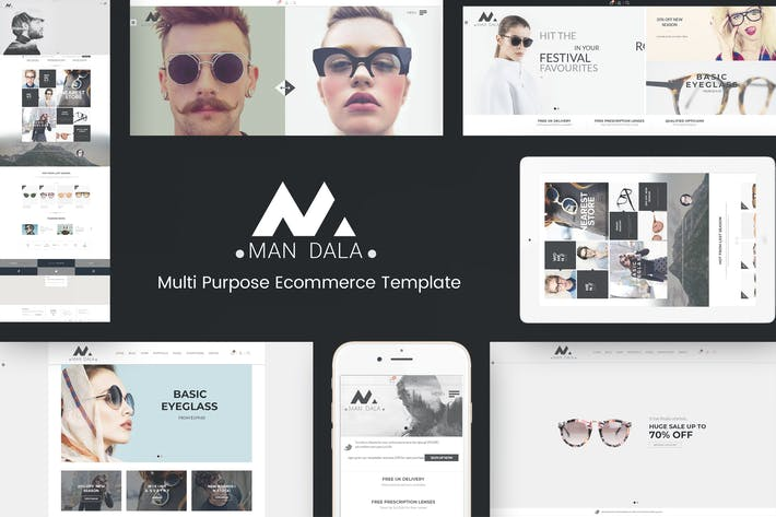 Cover Image For Mandala - Responsive Ecommerce WordPress Theme