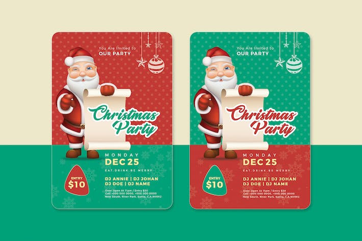 christmas flyer by stylewish on envato elements