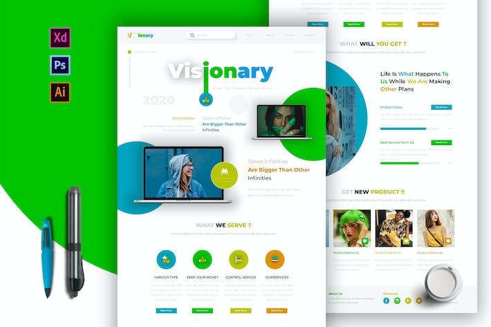 Thumbnail for Visionary | Newsletter Template
