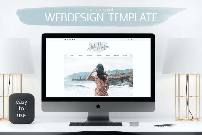 Thumbnail for Webdesign Template Blog V.1