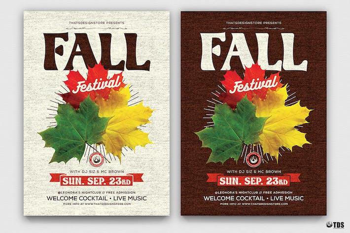 Thumbnail for Fall Festival Flyer Template