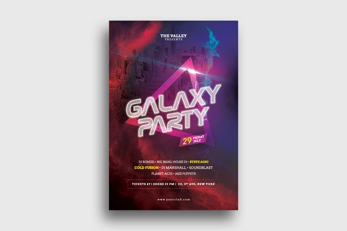 Thumbnail for Galaxy Party Flyer