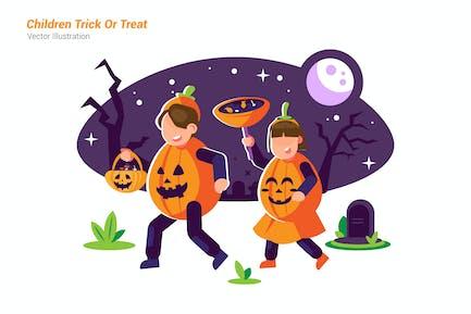 Children Trick - Vector Illustration