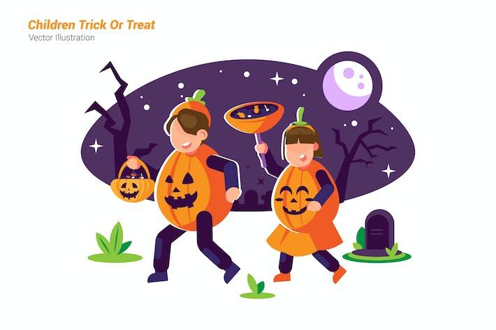 Thumbnail for Children Trick - Vector Illustration