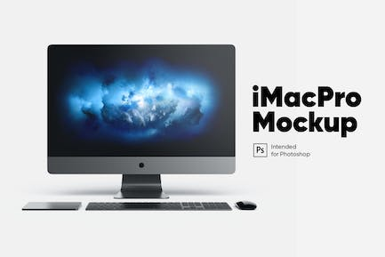 iMac Pro Front front view Mockup