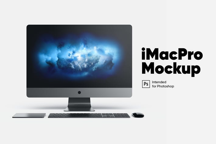 Thumbnail for iMac Pro Front front view Mockup