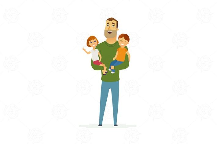 Thumbnail for Family - modern flat illustration composition