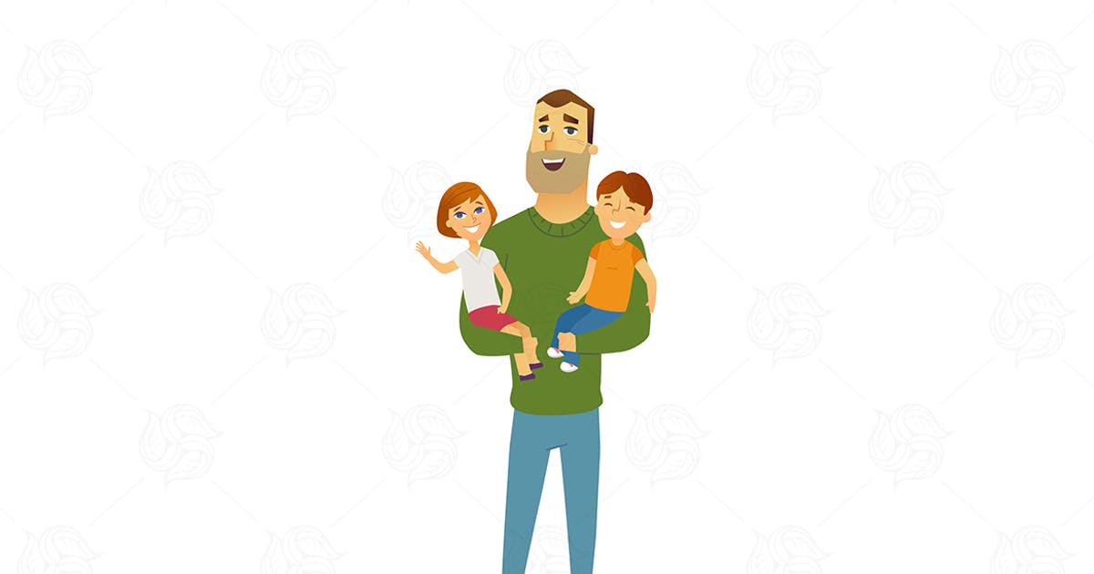 Download Family - modern flat illustration composition by BoykoPictures