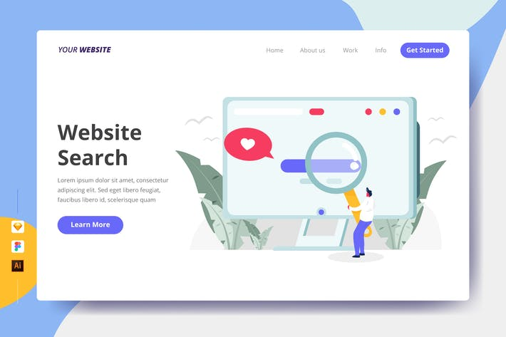 Thumbnail for Website Search - Landing Page