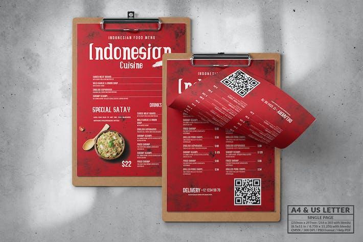 Thumbnail for Asian Food Menu Design A4 & US Letter