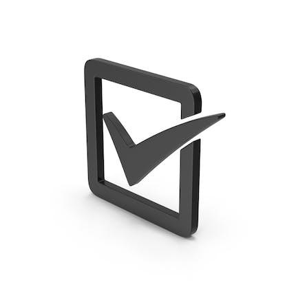 Symbol Check Box Black