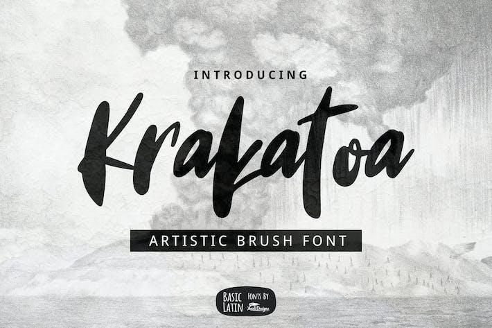 Thumbnail for Krakatoa Brush Font