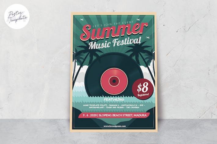 Thumbnail for Music Summer Festival Poster Template