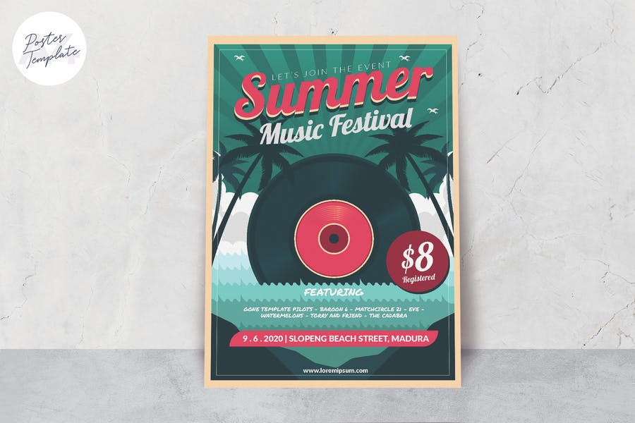 Music Summer Festival Poster Template