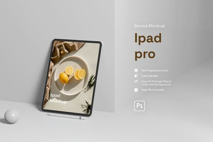 Device With Background Mockup
