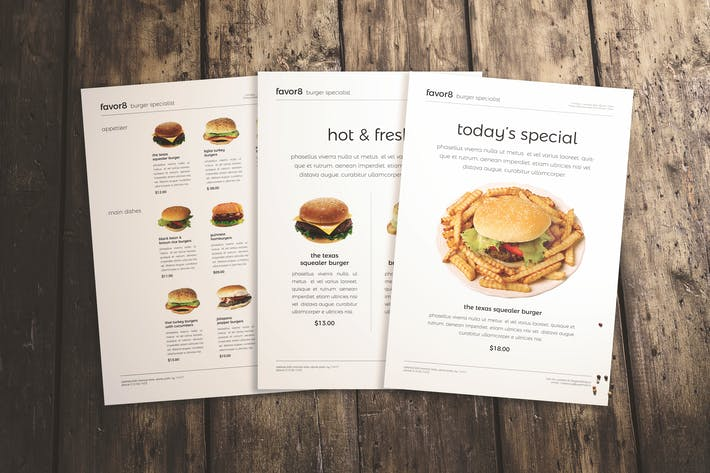 Thumbnail for Burger Menu Set