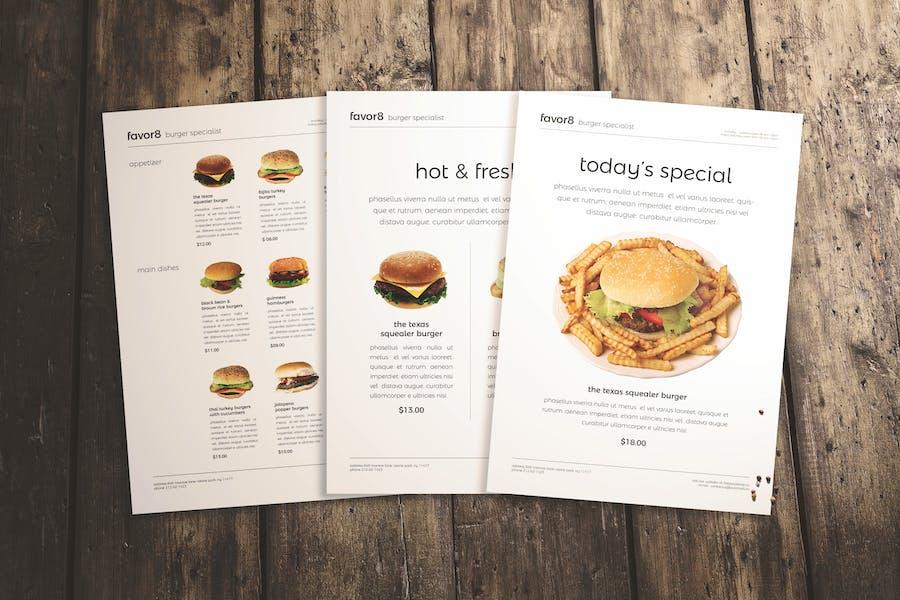 Burger Menu Set