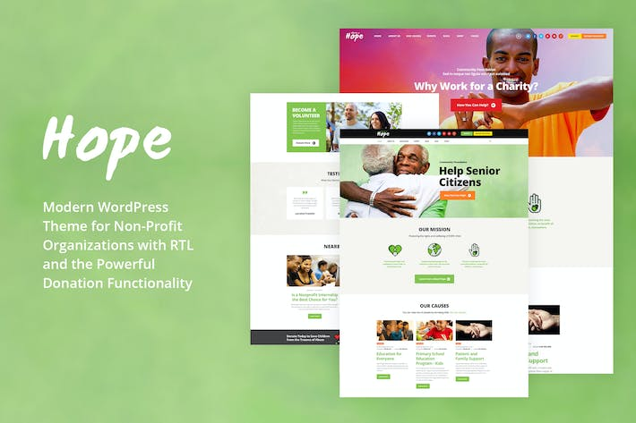 Cover Image For Hope - Non-Profit, Charity & Donations WP Theme
