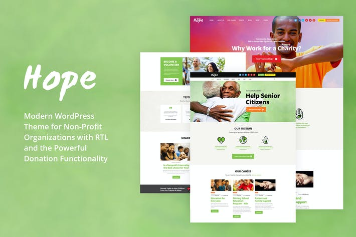 Hope - Non-Profit, Charity & Donations WP Theme