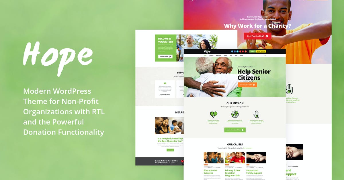 Download Hope - Non-Profit, Charity & Donations WP Theme by ThemeREX