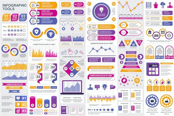 Шаблон Инфографика презентации