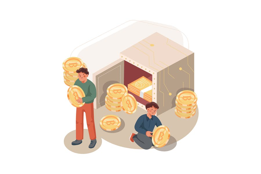 Proof of Stake (POS) Illustration Concept