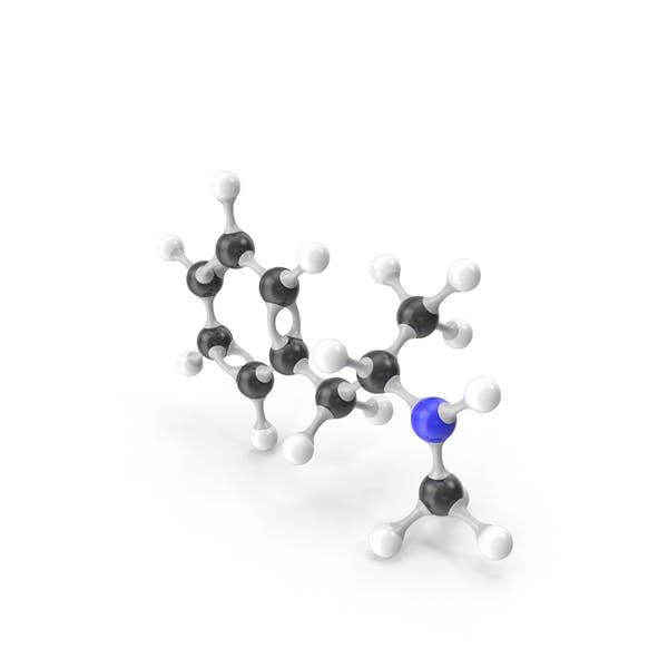 Methamphetamine Molecular Model