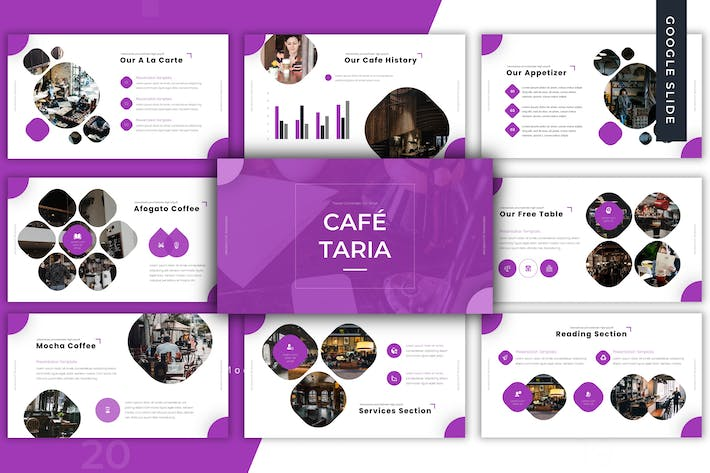 Thumbnail for Cafetaria - Google slides Template