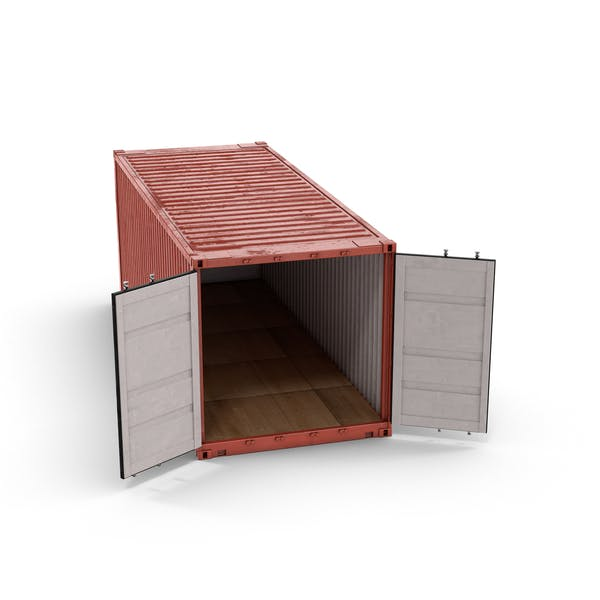 Shipping Container with Open Doors
