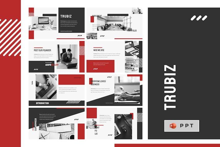 Thumbnail for TRUBIZ - Шаблон Powerpoint для бизнеса