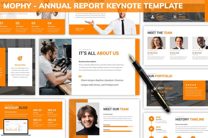 Thumbnail for Mophy - Annual Report Keynote Template