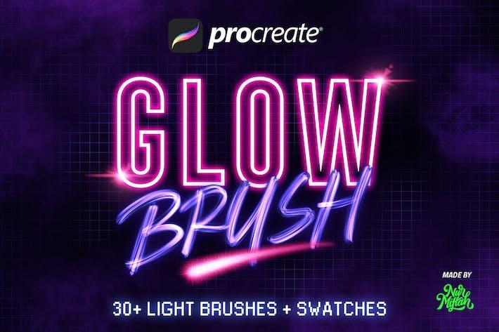 Thumbnail for 30+ Procreate Glow Brushes