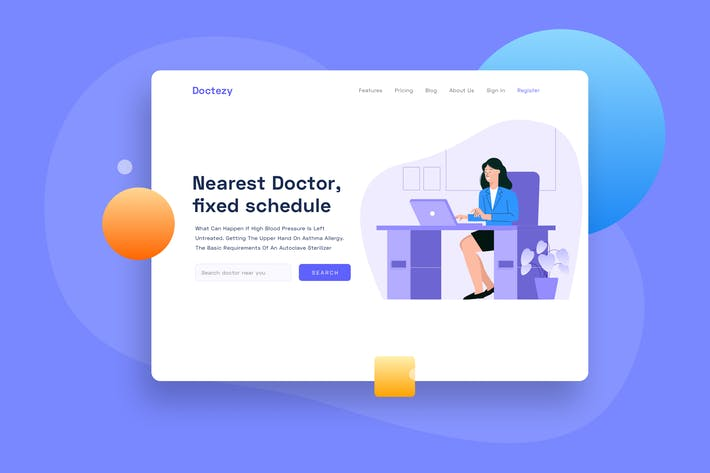 Thumbnail for Healthcare Doctor in the room Landing page header