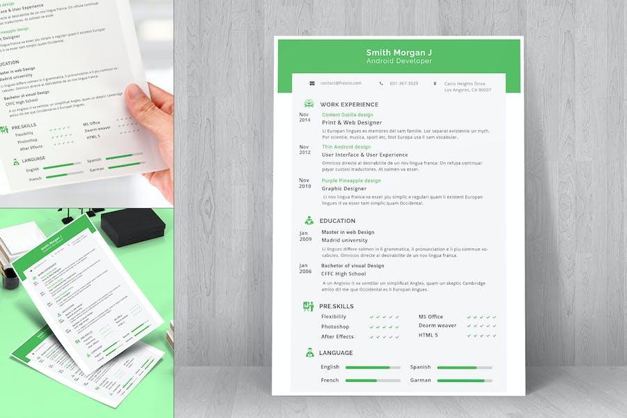 Resume CV Template-20